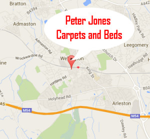 Peter Jones Carpets Map