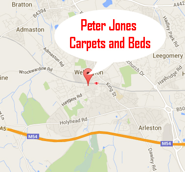 Peter Jones Carpets Map